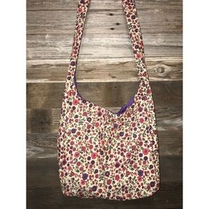 White Floral Crossbody Bag -mad'sbags